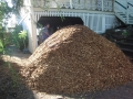 Mulch delivered and ready for distribution to garden beds