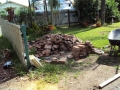 Re claimed pavers for new front rustic path