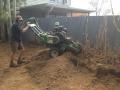 Bamboo grinding in progress