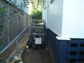 Narrow access to backyard is no problem