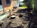 Stump grinding in Clontarf, the brief was to grind all stumps and lay a new lawn.