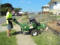 All Access Stump Grinding. Stump grinding close to fence at Wavell Heights to allow for construction of new fence.