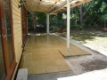 Paving under a new Pergola